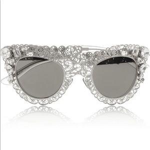 Silver Filigree CatEye Dolce & Gabbana Sunglasses